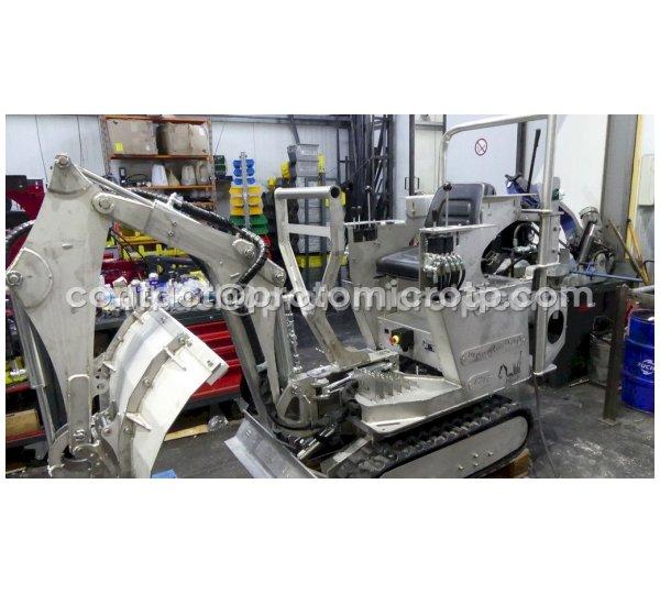 Micropelle en Inox motorisation électrique 380V Norme alimentaire, ATEX 22 (anti explosion, silo à sucre)